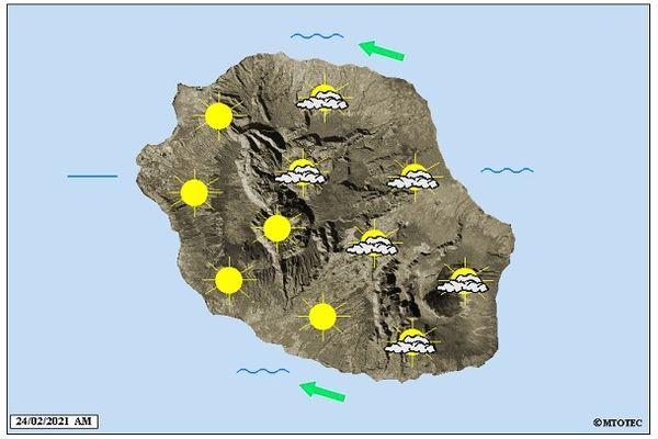 Carte météo 24 février 2021