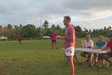 Les examinateurs de l'épreuve de rugby au bac