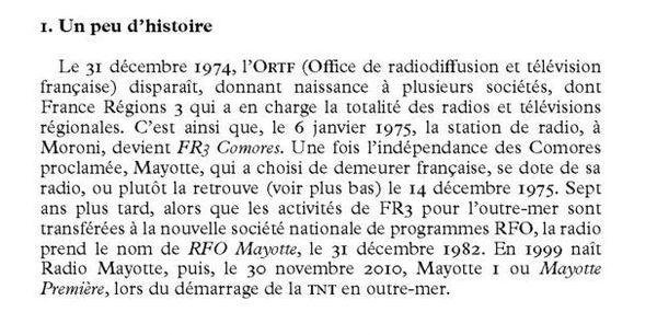 """Extrait d'""""Une histoire de la radio à Mayotte"""" de Jean-Louis LORENZO"""
