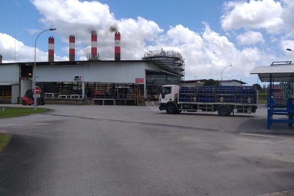 Le dépôt de gaz à la Sara à Rémire-Montjoly