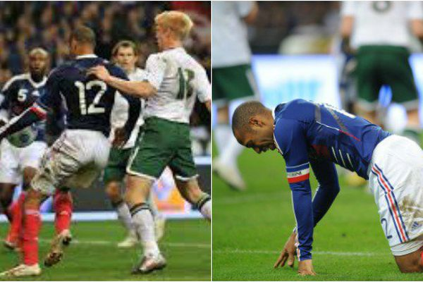 La passe de Thierry Henri lors du match France-Irlande du 18 novembre 2009