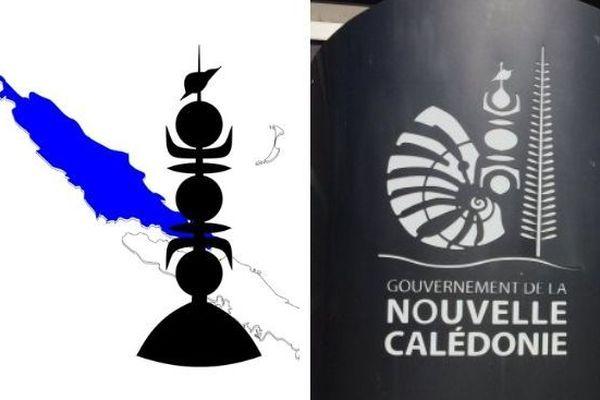 Mosaïque logos de la province Nord et du gouvernement.