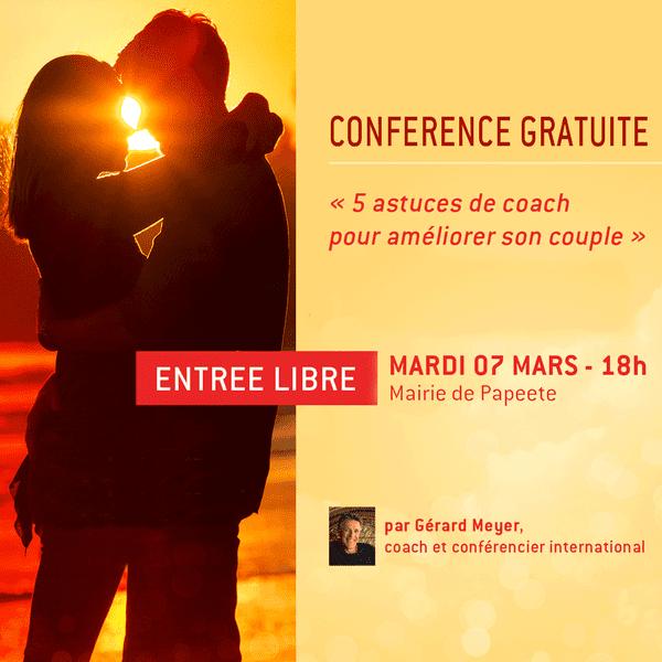 Conférence gratuite : 5 astuces pour améliorer son couple
