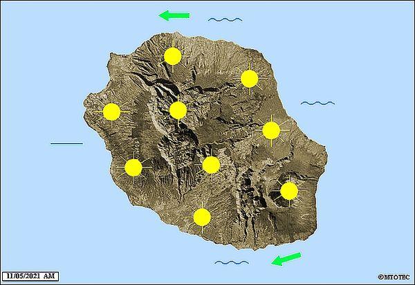 Carte météo 11 mai 2021