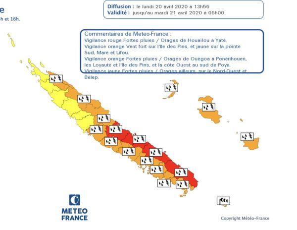Vigilance météo 20 avril 2020 14 h