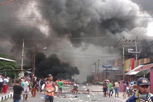 émeutes papouasie
