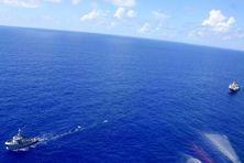 C'était le 9 février, quand le remorqueur Maroa de la Marine nationale tractait le Maris Stella en panne de Rangiroa jusqu'à Papeete !