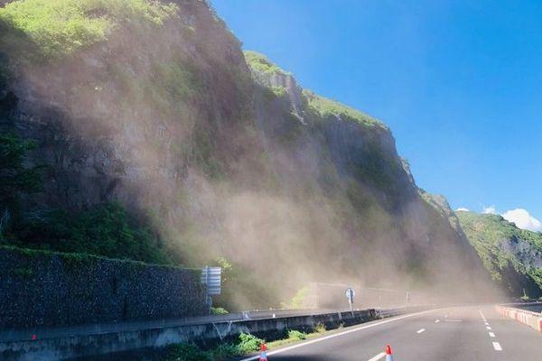Route du Littoral travaux de purges 090220