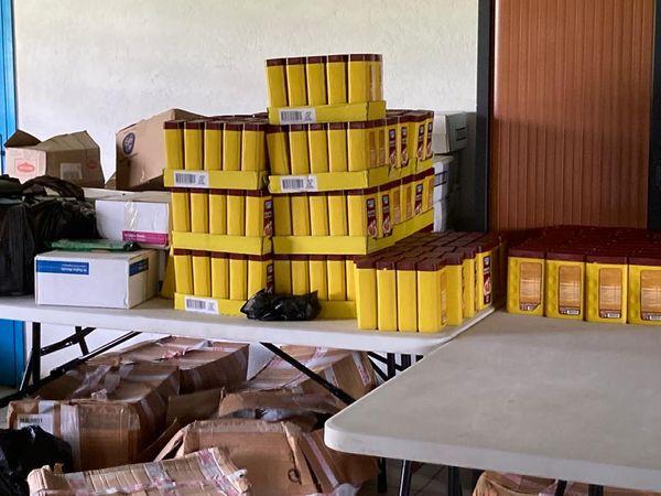 Denrées alimentaires pour les sinistrés du Maroni