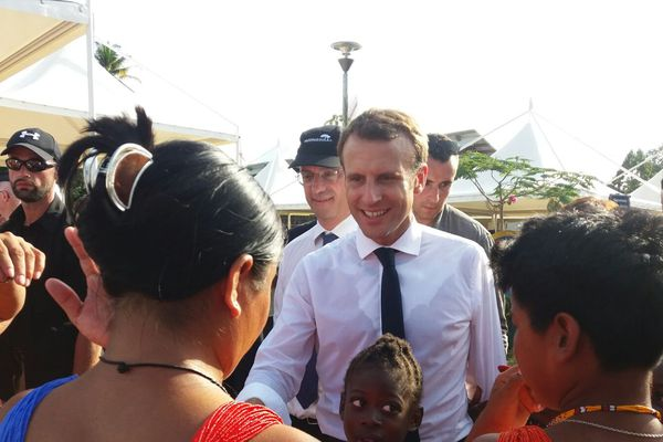 Le président Macron à Maripasoula