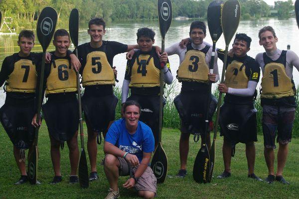 Les vices champions cadets 2014 de canoë-kayack
