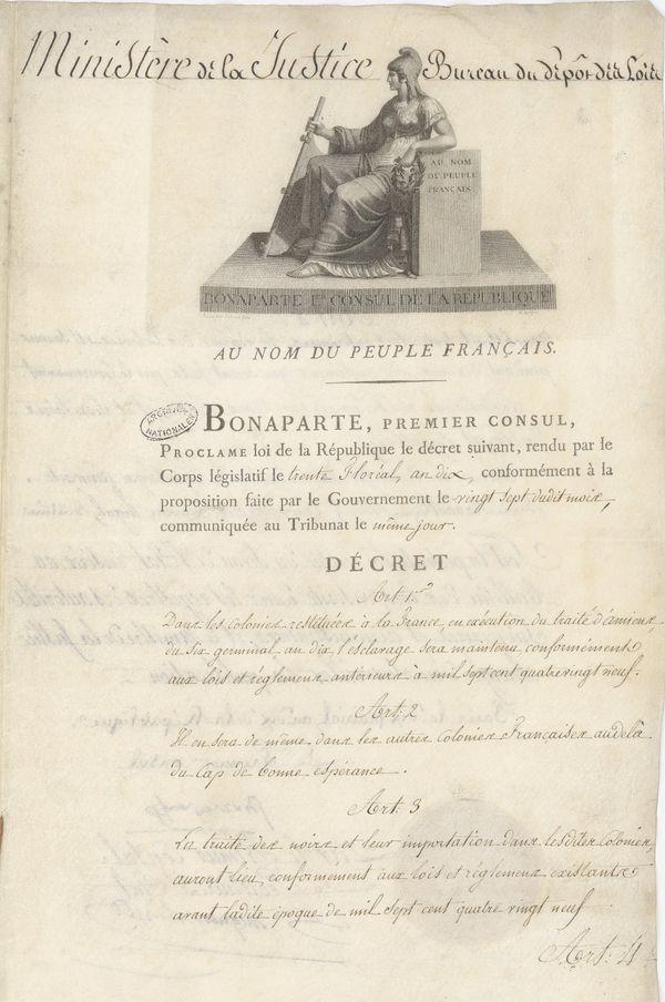 Décret-Loi du 20 mai 1802