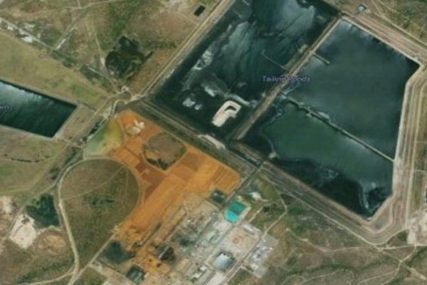 Vue aérienne d'une partie de la raffinerie de Yabulu