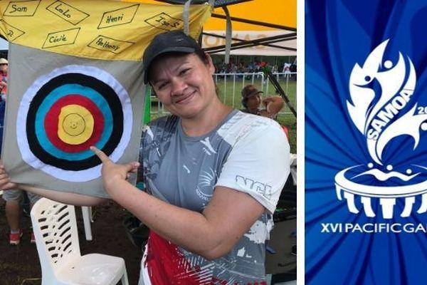 Samoa 2019, médaille d'or tir à l'arc Cécile Picot
