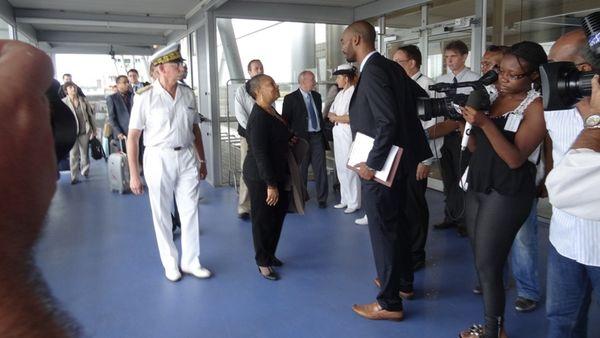 Christiane Taubira arrive en Guyane