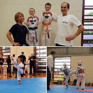 Dorian et Maëlle, les enfants d'Emeraude, excellent en taekwondo