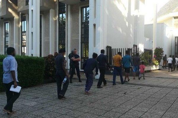 Migrants arrivés au tribunal de Chjamp Fleuri JLD 180419