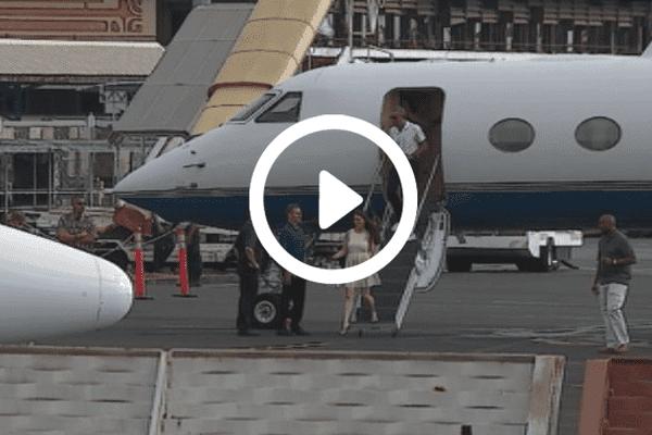 Barack Obama a sa descente d'avion