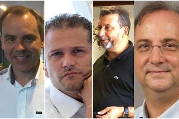 Montage - Maires Serge Hoarau, Patrick Lebreton, Olivier Rivière et Stéphane Fouassin