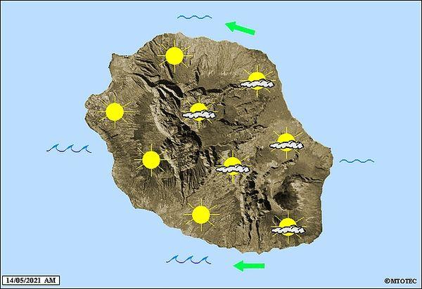 Carte météo 14 mai 2021
