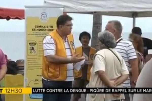 Opération prévention lutte dengue marché Saint-Paul  09 06 18