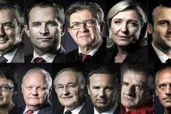 mosaique 11candidats pdt 2017