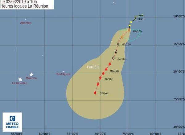 Tempête tropicale modérée Haleh à 10h 020319