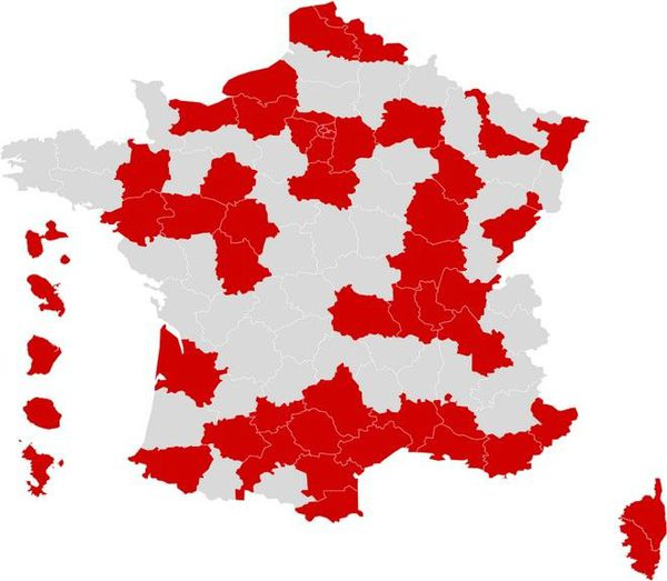 "coronavirus covid carte "" zone rouge"" circulation active du virus 230920"