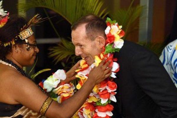Accueil du Premier Ministre australien à Port-Moresby