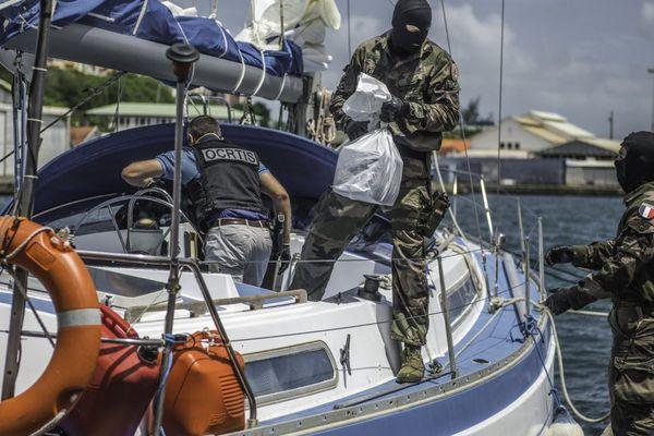 saisie de cocaine sur un voilier