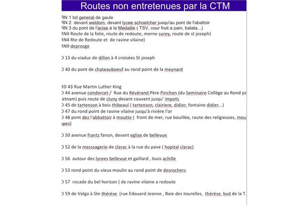 Routes non entretenues / CTM