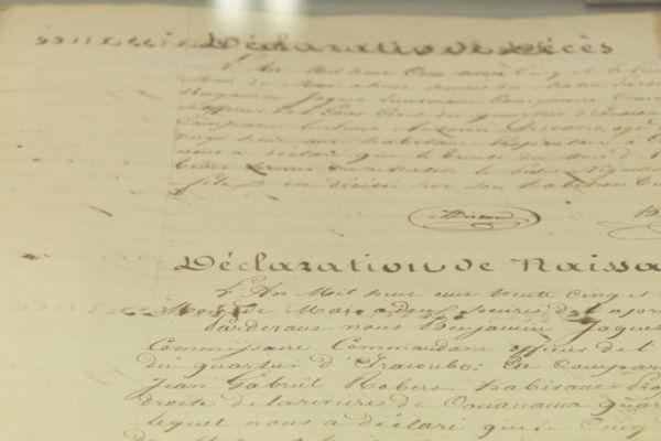 Un document d'archive