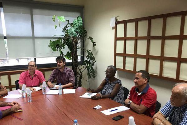 Rodolphe Alexandre, président de la CTG  rencontre les médecins démissionnaires
