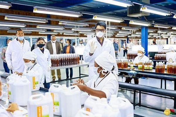 CVO usine de production à Madagascar avril 2020