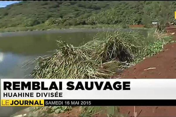Remblais sauvages à Huahine