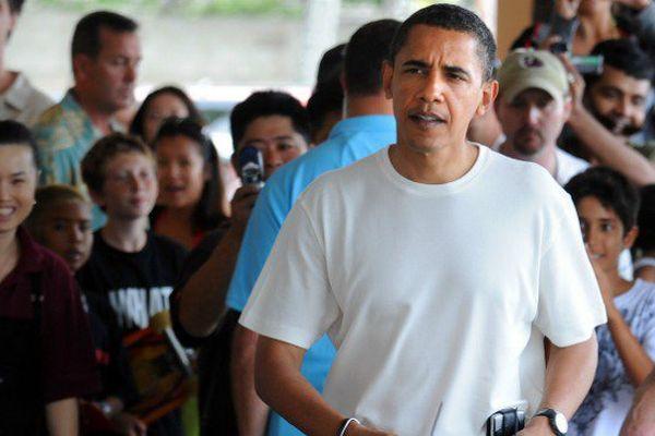 Barack Obama à Hawaï en décembre 2008