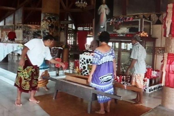 Relique de St Pierre Chanel à Futuna