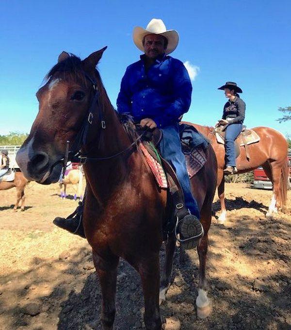 Fête de l'élevage à l'ancienne, cavaliers, 3 août 2019, La Foa