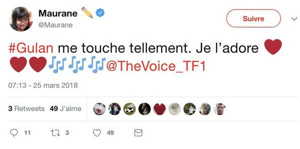 Gulaan The Voice Twitter Maurane