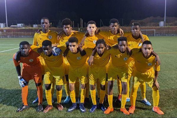 La sélection U15 de Guyane le 27 décembre