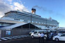 Le Costa Magica a accosté ce matin (27 février 2020) à 7 h au grand port maritime de Fort-de-France.