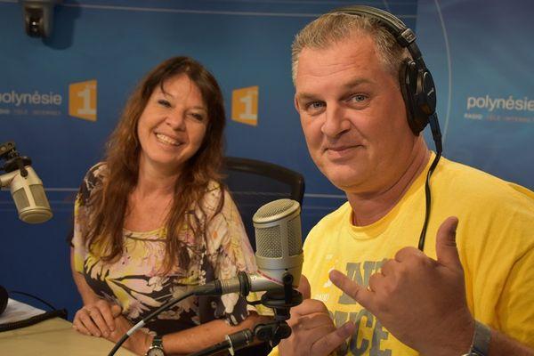 """Nathalie Bourez d'Infos Service & Pascal Mitote présentateur de """"C'est que du Bonheur """""""