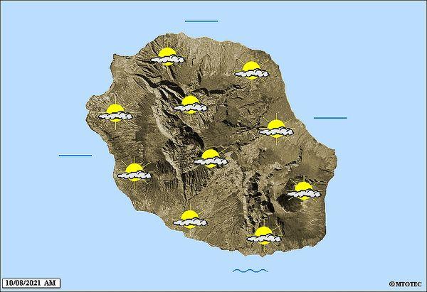 Carte météo 10 août 2021