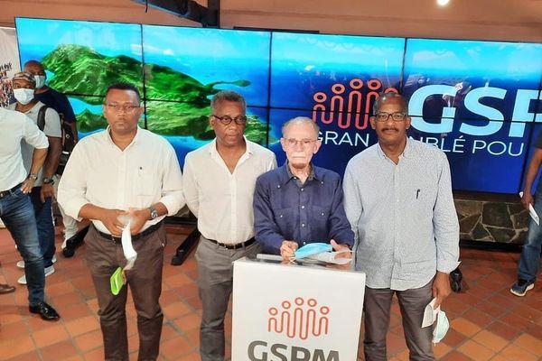 Les leaders du Gran Sanblé Pou Matinik