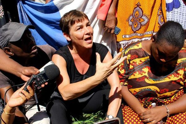 Annick Girardin à Mayotte en mars 2018