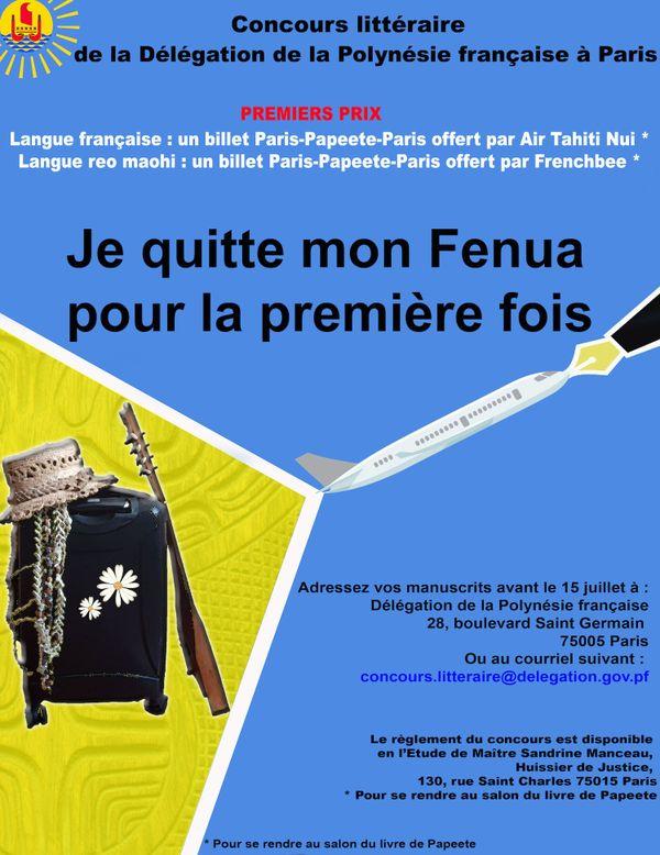 Concours littéraire polynésie à Paris