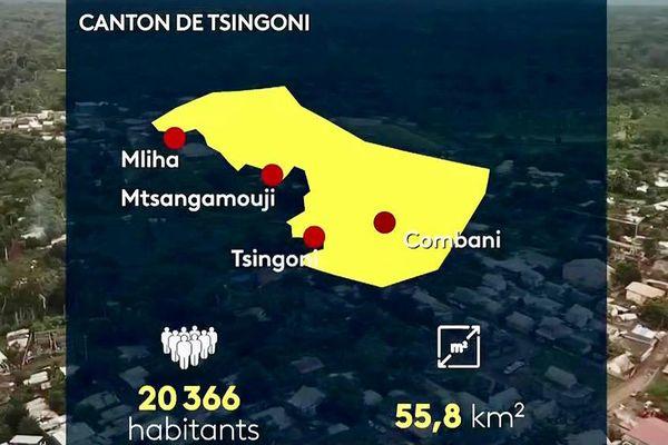 Carte canton de Tsingoni