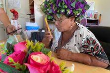 La présidente de l'association Vahine Orama Tahiti iti, Marie-Noëlle Epetahui.