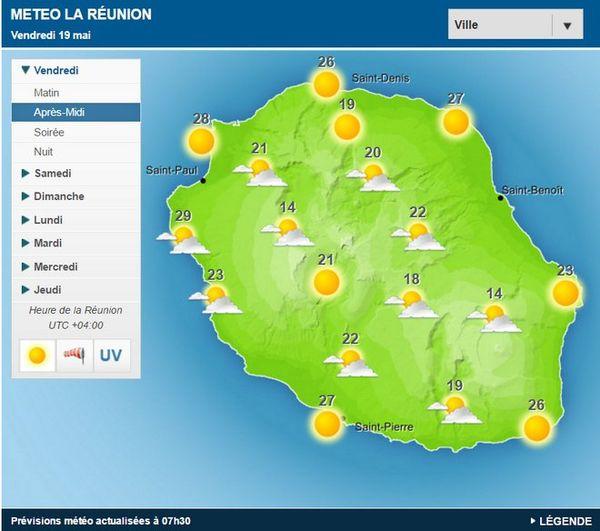 Carte météo 19 mai 2017
