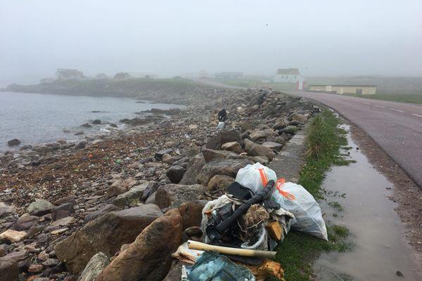 Une centaine de sacs remplis de déchets ont été ramassés sur le littoral